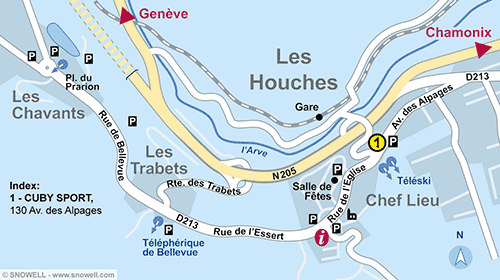 Resort Map Les Houches