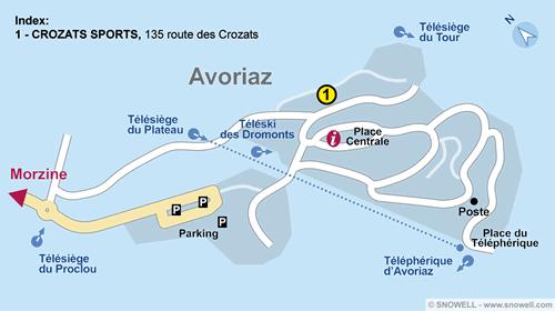 Lageplan Avoriaz