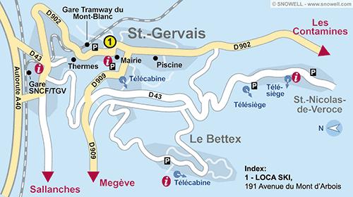 Resort Map Saint Gervais Les Bains