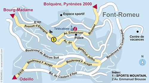 Resort Map Font Romeu