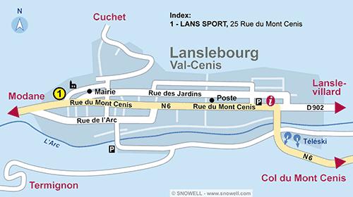 Resort Map Lanslebourg Val Cenis