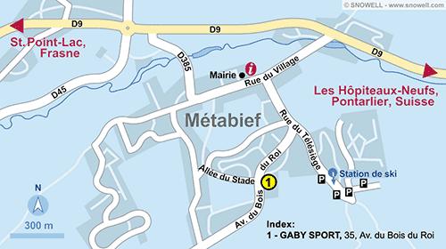 Lageplan Métabief