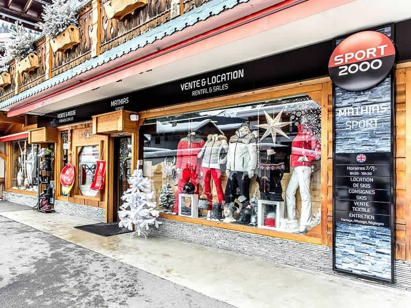 Verleihshop MATHIAS SPORTS, 60 Taille de Mas du Pleney in Morzine