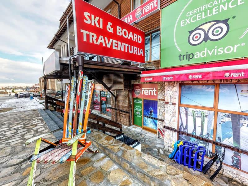 Verleihshop Ski & Board Traventuria - Ski Bansko, 92E Pirin Str. (Pirin Palace Hotel) in Bansko