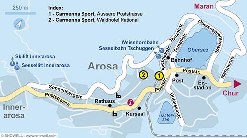 Lageplan Arosa