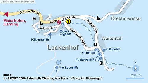 Lageplan Lackenhof am Ötscher