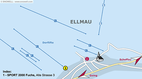 Lageplan Ellmau