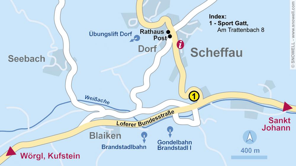 Verleihshop Sport Gatt, Scheffau in Am Trattenbach 8