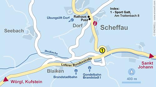 Lageplan Scheffau