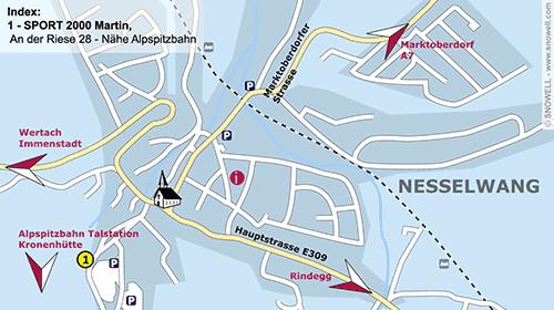 Lageplan Nesselwang