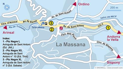 Lageplan La Massana