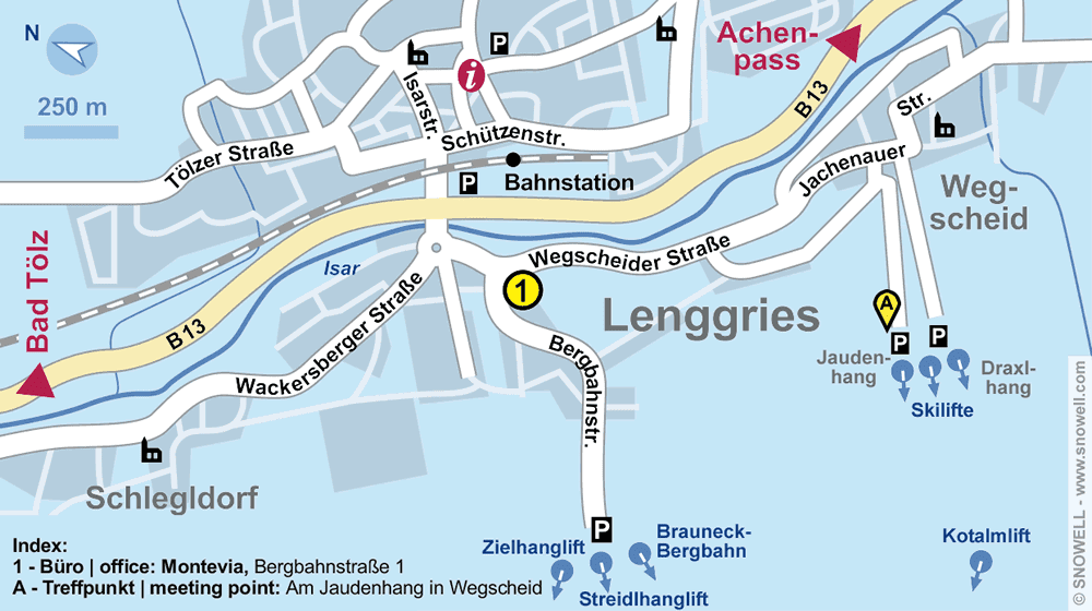 Ski- und Snowboardschule Montevia in Lenggries, Bergbahnstrasse 1