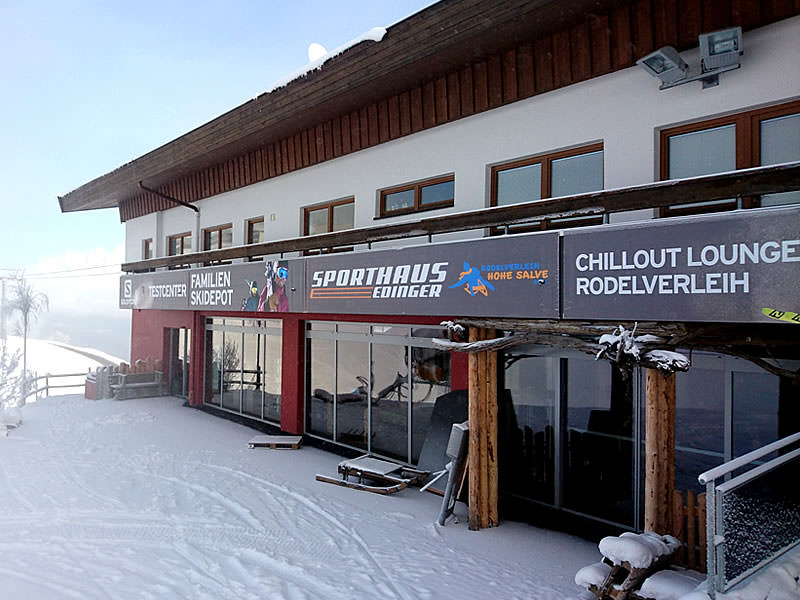 Verleihshop Sport Edinger Testcenter, Bergstation Gondelbahn Hochsöll in Söll