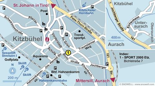Lageplan Kitzbühel