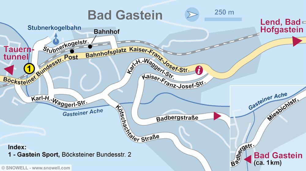 Verleihshop Gastein Sport, Bad Gastein in Böcksteiner Bundesstrasse 2