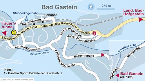 Lageplan Bad Gastein