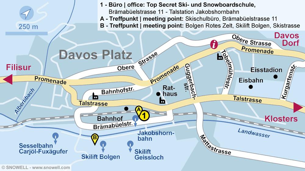 Top Secret Ski- und Snowboardschule in Davos-Platz, Brämabüelstrasse 11