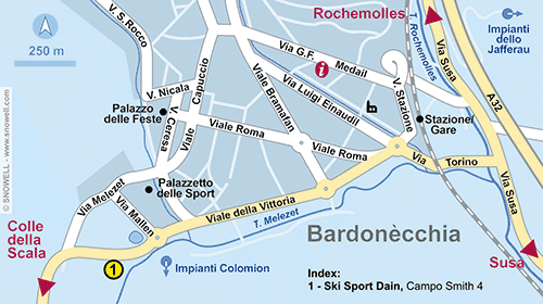 Lageplan Bardonecchia