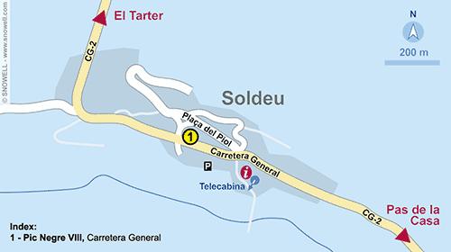 Lageplan Soldeu