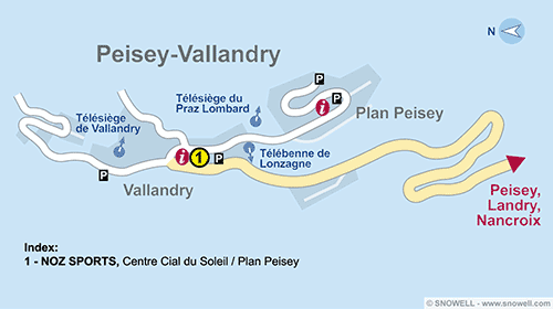 Resort Map Peisey Vallandry