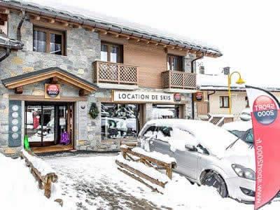 Ski hire shop NOZ SPORTS, Peisey Vallandry in Centre Cial du Soleil / Plan Peisey