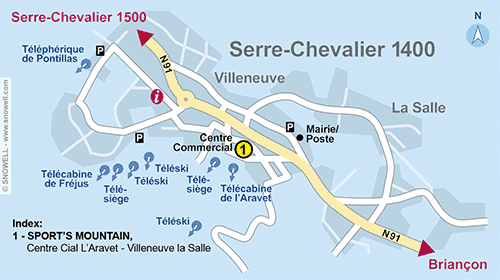 Resort Map Serre Chevalier Villeneuve