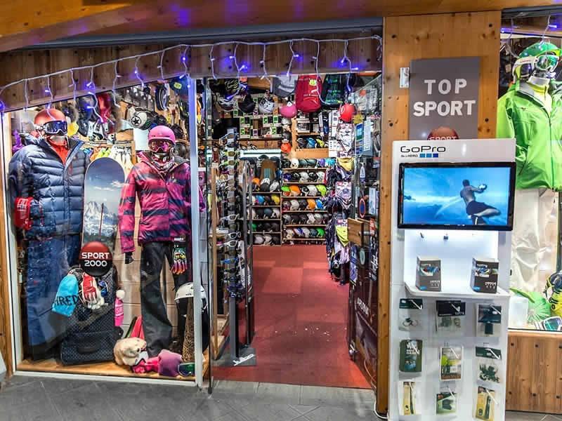 Verleihshop TOP SPORTS, Centre Commercial de Caron in Val Thorens