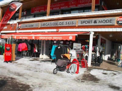 Verleihshop OLIVIER SPORTS, Alpe d'Huez in Centre commercial des Bergers