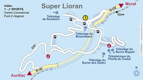 Lageplan Super Lioran