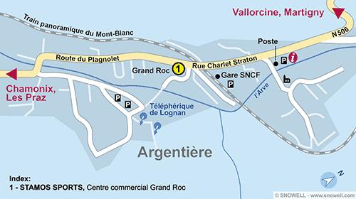 Lageplan Argentière