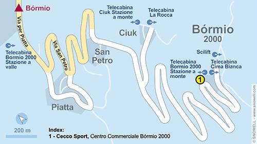Lageplan Bormio 2000-Valdisotto