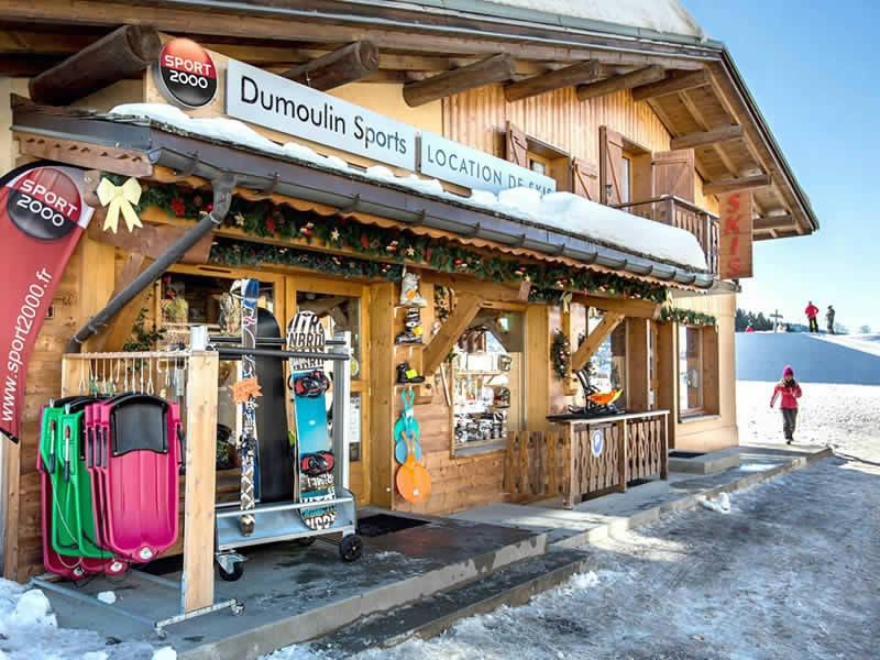 Verleihshop DUMOULIN SPORTS, Chef Lieu in Crest-Voland