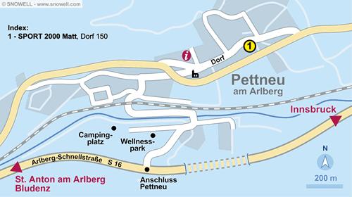 Lageplan Pettneu
