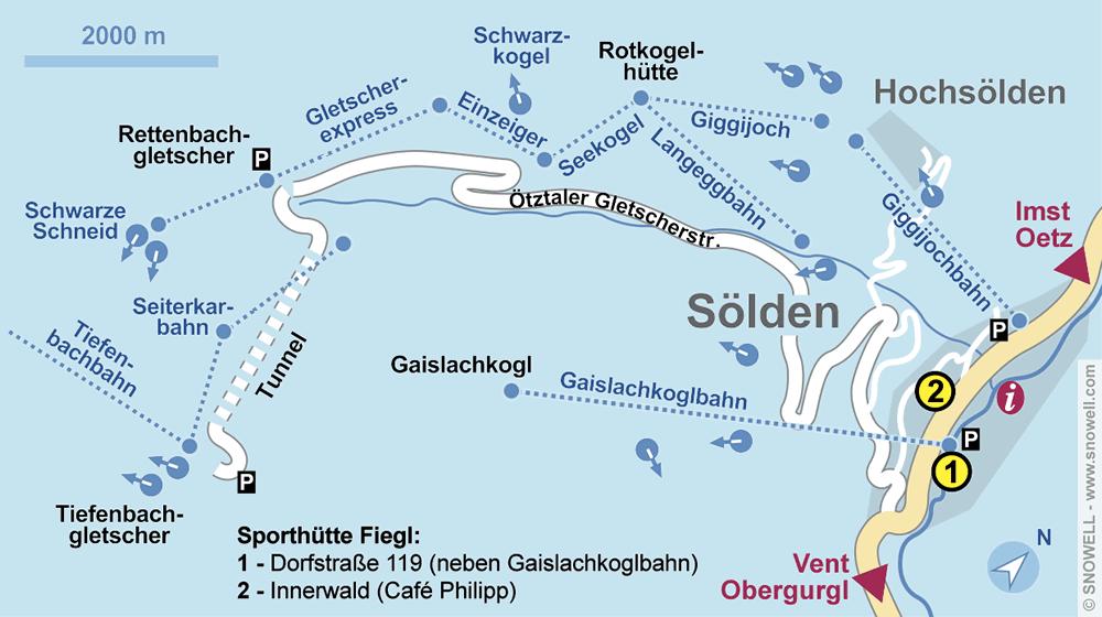 Verleihshop Sporthütte Fiegl, Sölden in Dorfstrasse 119