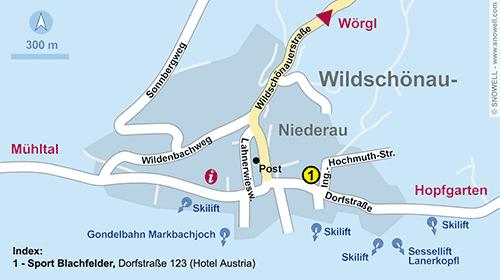 Lageplan Wildschönau-Niederau