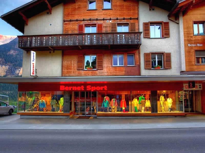 Verleihshop Bernet Sport, Grindelwald in Dorfstrasse 128