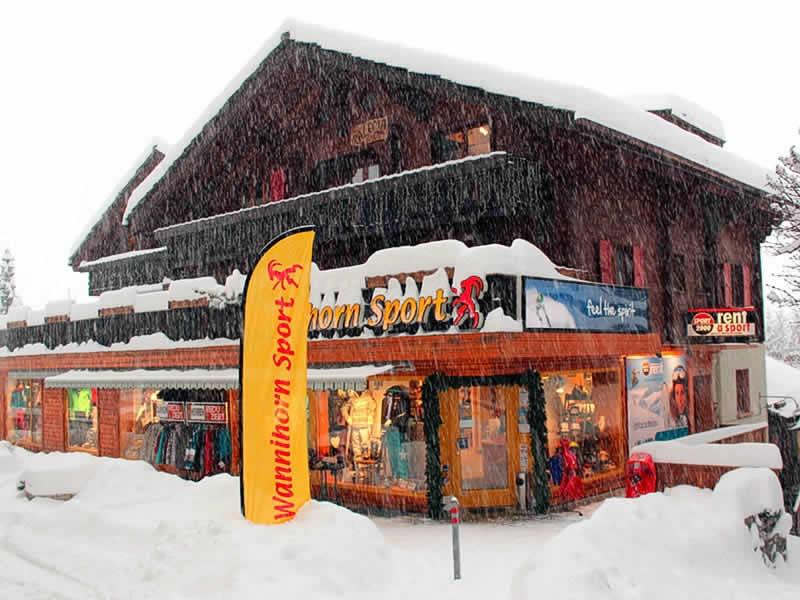 Verleihshop Wannihorn Sport, Dorfzentrum Grächen 169 in Grächen