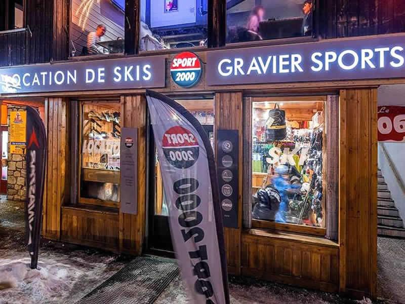 Verleihshop GRAVIER SPORT, Etoile des neiges in La Foux d'Allos