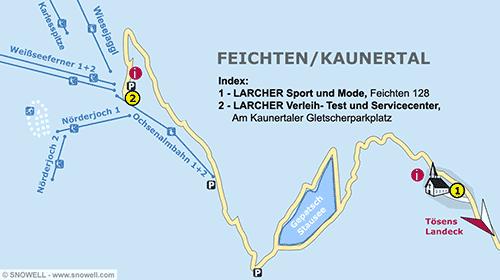 Lageplan Feichten/Kaunertal