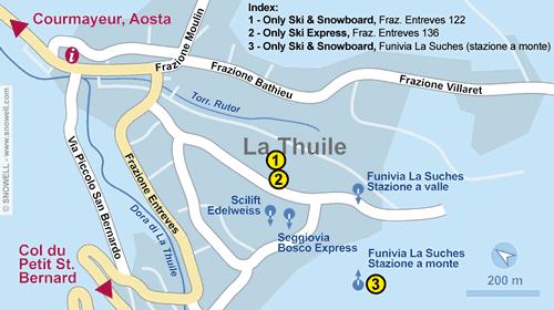 Lageplan La Thuile