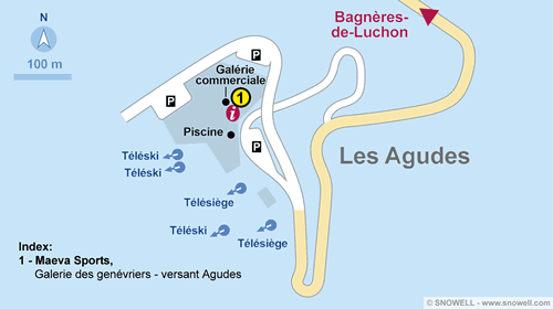Lageplan Les Agudes