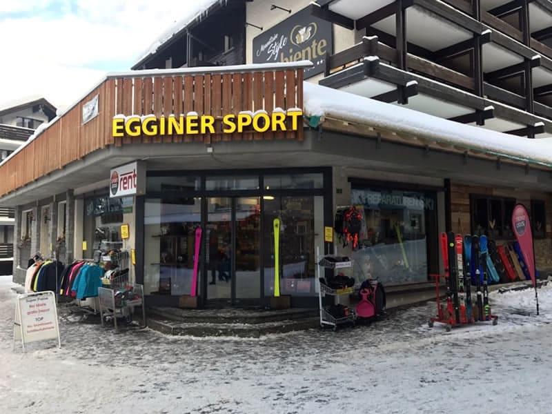 Verleihshop Egginer Sport, Gletscherstrasse 3 in Saas-Fee