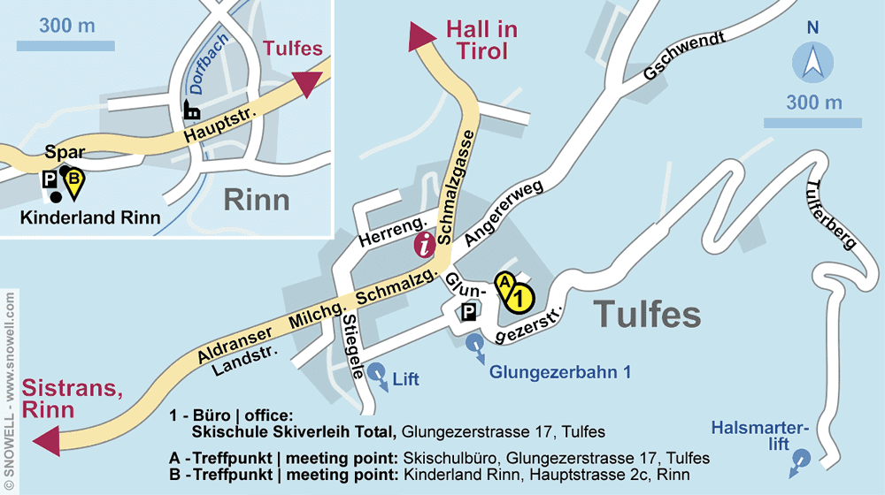 Skischule Skiverleih Total in Tulfes, Glungezerstrasse 17