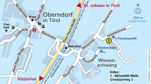 Lageplan Oberndorf in Tirol