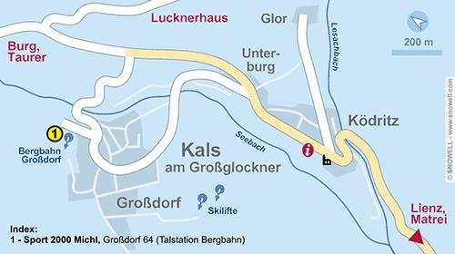 Lageplan Kals am Großglockner