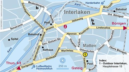Lageplan Interlaken