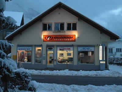 Skiverhuur winkel Outdoor Interlaken, Interlaken in Hauptstrasse 15