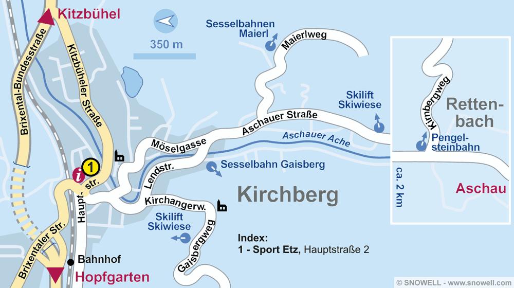 Verleihshop SPORT 2000 Etz, Kirchberg i. Tirol in Hauptstraße 2
