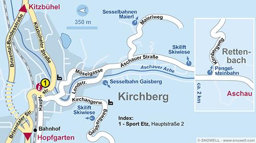 Lageplan Kirchberg i. Tirol