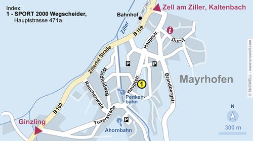 Lageplan Mayrhofen